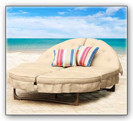 Orbit Lounger on Beach