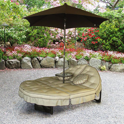 Orbit Lounger With Umbrella And A Mini Table Too