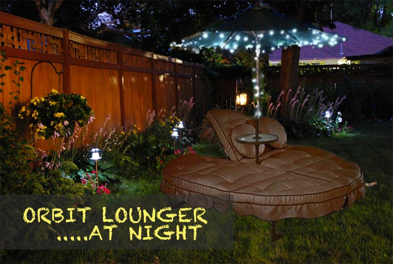 Attractive Orbit Lounger At Night