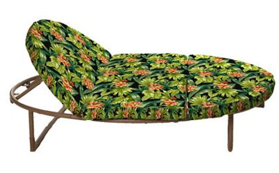 Black Tropical Orbit Lounger Replacement Cushions