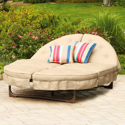 Mainstays crossman orbit lounger for 2 person outdoor chaise lounge